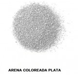 ARENA Silice Coloreada PLATA 25 Kg