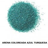 ARENA Silice Coloreada Turquesa 25 Kg