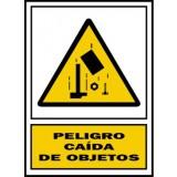 Placa Señalizacion S. Mataró. Peligro Caida de Objetos