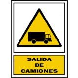 Placa Señalizacion S. Mataró. Peligro Salida de Camiones