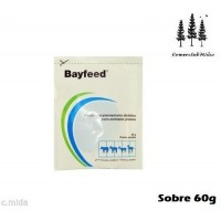 Bayfeed 60g Prevención y Tratamiento Diarrea Terneros, Corderos, Cabritos,potros