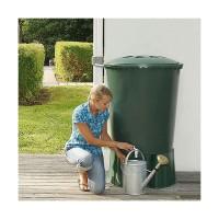 Contenedor de Agua de Lluvia Redondo 310 Litros (Con Base y Filtro)