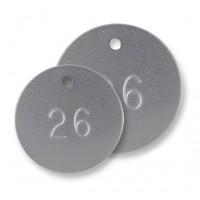 Placa de Aluminio Redonda Numerada.