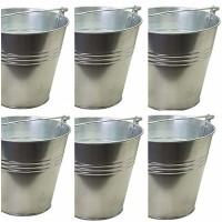 Pack de 6 Cubos Maceteros de Zinc. 12 X 12 Cm