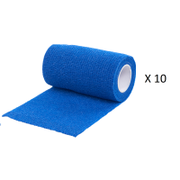 Pack Ahorro 10 Rollos de Vendaje Flexible para Animales Vet-Flex Color Azul