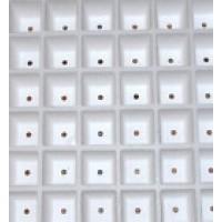 Bandeja de Corcho Blanco. Semillero Germinacion. 104 Alveolos
