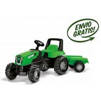 Tractor Infantil de Juguete a Pedales Viking con Remolque