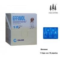 Caja 18 Pipetas Effinol 1,34Mg  Perros 10-20