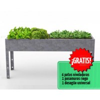 Mesa de Cultivo Medius 70 Acero Galvanizado | Huerto Urbano