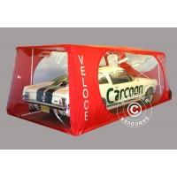 Carcoon Veloce 4,33X2,3 M Traslúcido/rojo, Interior