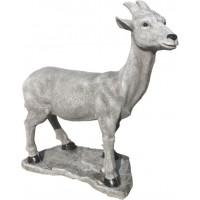 Figura Cabra Loca, 63X60, Natural Musgo.