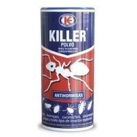 Killer Polvo Anti Hormigas, Espolvoreo Listo para el Uso, Elimina Insectos y Ácaros 500 Gr