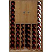 Botellero Pino Godello 46 Botellas + 2 Puertas Altas
