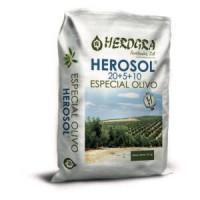 Herosol Especial Olivo 20+5+10, Fertilizante, Granulado, 25 KG