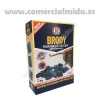Raticida Brody Parafina en Óvulos 11/13G con Brodifacoum Veneno para Ratas y Ratones - Estuche 1 Kg