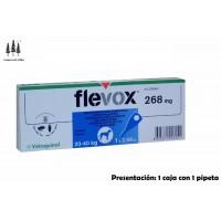 Caja 1 Pipeta Flevox 2,68 Ml Perros 20-40 Kg Anti Pulgas y Garrapatas Pipetas