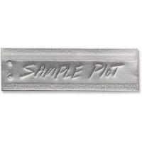 Etiqueta de Aluminio Doble Cara, con Alambre.