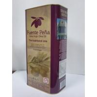 """Aceite de Oliva Virgen Extra """"fuente Peña"""", Caja de 4 Latas de 5L (20L)"""