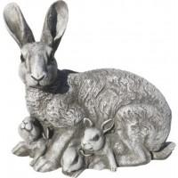 Figura Conejo, 35X19Cm. Natural Musgo