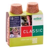 18 Macetas Redondas de Fibra de Coco Biodegra
