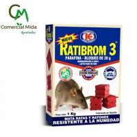 Ratibrom 3 1Kg - Parafina en Bloques de 20g Veneno para Ratas y Ratones