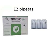 12 Pipetas Flevox 0,50 Ml Anti Pulgas y Garra