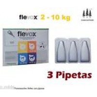 3 Pipetas Flevox 0,67Ml Pulgas Garrapatas Fipronilo Perro Pipette 2-10 Kg Pipeta