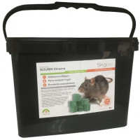 Raticida Sourin Xtreme Frap, Cebo en Bloque para Control de Roedores. Cubo 5 Kg