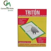 Triton - Pack 2 Trampas Adhesivas SIN Veneno para Ratas y Ratones (24,5X18,5Cm)