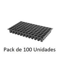 100 Semilleros de Plástico Negro Bandeja para