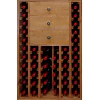 Botellero Pino Godello 46 Botellas + 3 Cajones Altos