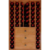 Botellero Pino Godello 46 Botellas + 3 Cajones Bajos