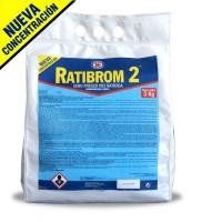 Cebo Fresco Raticida Ratibrom 2 Veneno Ratas y Ratones (Alta Eficacia)  3 Kg