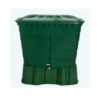 Contenedor de Agua de Lluvia Rectangular 520 Litros (Con Base y Filtro)