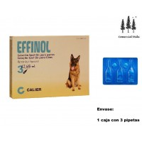 Caja 3 Pipetas Effinol 2,68Ml Pulgas y Garrapatas Fipronil Perro Pipette 20-40Kg