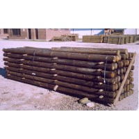Postes de Madera Vallados y Uso Agrícola y Forestal.. 2 M / 6-8 Cm Grosor