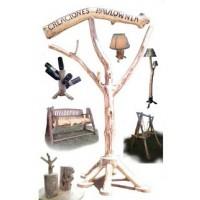 Muebles y Aticulos de Decoracion en  Rustico Creados en Madera de Pauwlonia