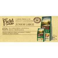 Sam's Field Junior Large Pollo con Patata 13 Kg