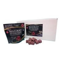 Maxirat BD-3 Bloque, Cebo en Bloques, Bromadiolona, Estuche 250 Gr (10 X 25 Gr), Caja 24 Estuches