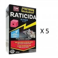 Raticida Muribrom Bloque 5X200G Veneno para R