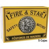 500 (5 Cajas de 100) Cerillas Largas Madera Fósforos Seguridad para Barbacoas, Estufas y Fuegos