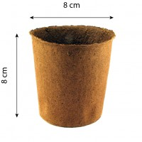 Maceta Biodegradable Fertilpot Redonda 8x8. 1370 Unidades