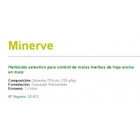 Minerve Herbicida Selectivo para Control de Malas Hierbas de Hoja Ancha en Maíz de Sipcam