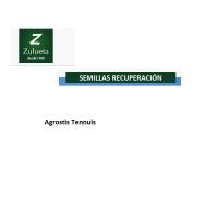 Semillas de Recuperación Agrostis Tennuis. Saco de 25 Kilos