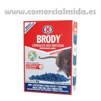 Brody Cereales 003, Veneno en Cereal para Ratas y Ratones - 1Kg