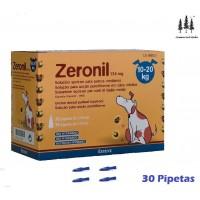 Caja 30 Pipetas Perros 10-20 Kg Zeronil Pipet