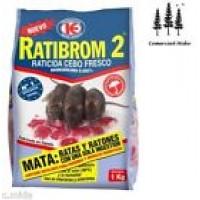 Cebo Fresco 1 Kg Raticida Ratibrom 2 Veneno Ratas Ratones Resiste Calor Humedad