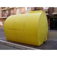 Deposito Cilindrico Horizontal 3.000 L. Reforzado en Polietileno