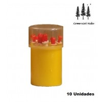 Bote con 10 Cánulas Mamarias Stück con Vaselina (5 Cm)