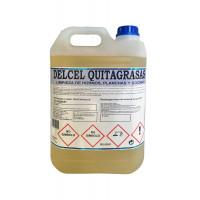Delcel Quita-Grasas Higienizante Alcalino para Cocinas, Suelos y Superficies Muy Sucias (5Kgrs)